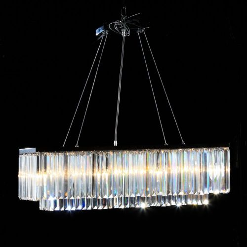 Cascade Rectangular Chandelier in Chrome